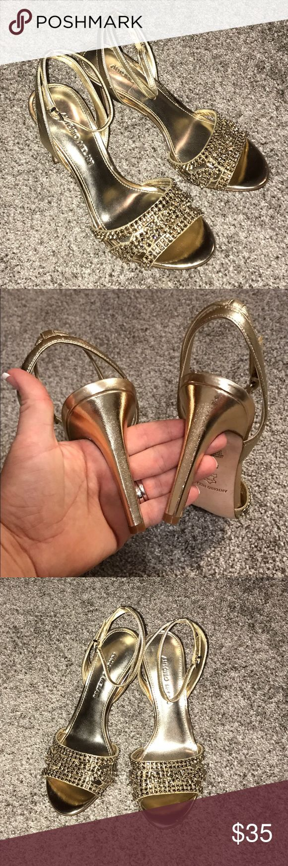 Brand new Antonio Melani gold heels Woman's Antonio Melani gold heels. These are beautiful heels new without box. Very comfortable and true to size/ ANTONIO MELANI Shoes Heels