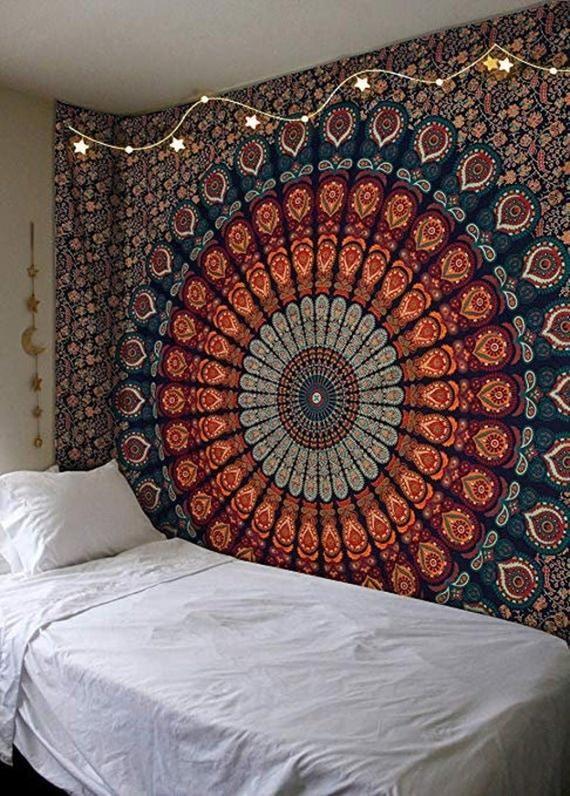 Wall Tapestry Mandala Tapestry Wall Hanging Tapestry Cotton Etsy Bedroom Wall Hangings Mandala Tapestries Wall Hangings Room Tapestry
