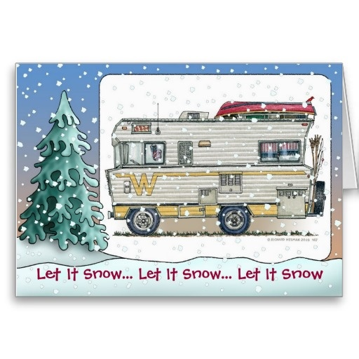 Winnebago Camper RV Holiday Cards