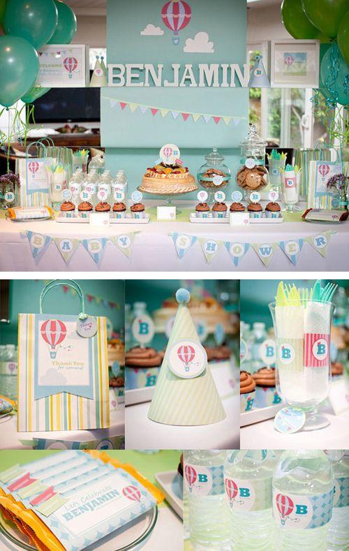 Hot air balloon baby shower ideas // How cute is this??