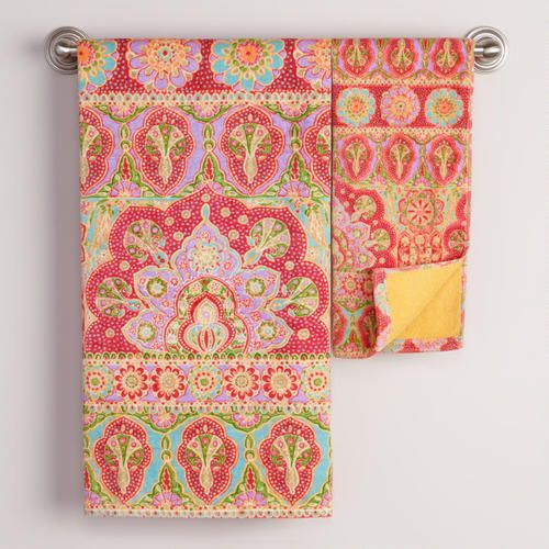 Love This Pattern And Color Combination Gia Bath Towel Collection Decorate
