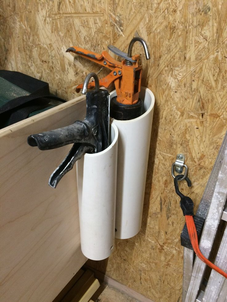 Storage idea for caulk guns