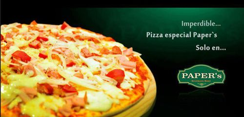 Paper's Brothers Bar and Pub - #Colchagua Valley Chile..Pizza