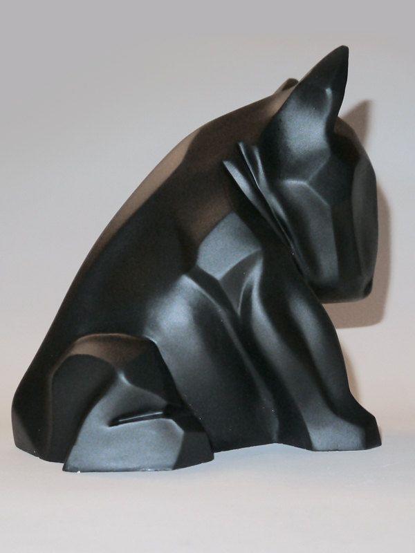 Bull Terrier sculpture Black Mat by PSIAKREW on Etsy