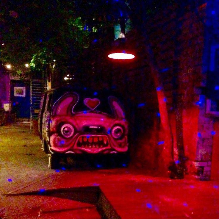 Club Sisyphos #berlin #bln #rummelsburg #club #sisyphos #clubsisyphos #location #vwbus #openart #grafiti #streetart #lighting #red #blue #berlinbynight #colorful #nightlife #location #onlyiphone #gensuniverse by gensuniverse
