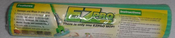 NEW EZ Pro EZPRO Mop Head Refill Replacement Factory Sealed #EZPRO