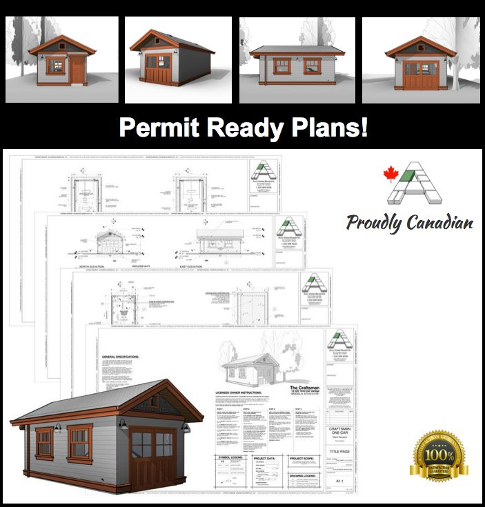 11 best permit ready blueprints house plans images on pinterest craftsman 12x20 detached one car garage blueprints malvernweather Gallery