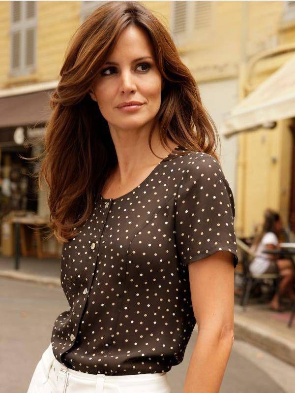Блузки в горошек (54 фото): модели, с чем носить блузы в горошек