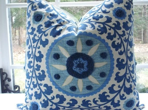 Esty Decorative Suzani Pillows For Sale - http://www.cozybliss.com/esty-decorative-suzani-pillows-for-sale/