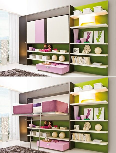 65 best space saving furniture images on pinterest child for Cool space saving ideas