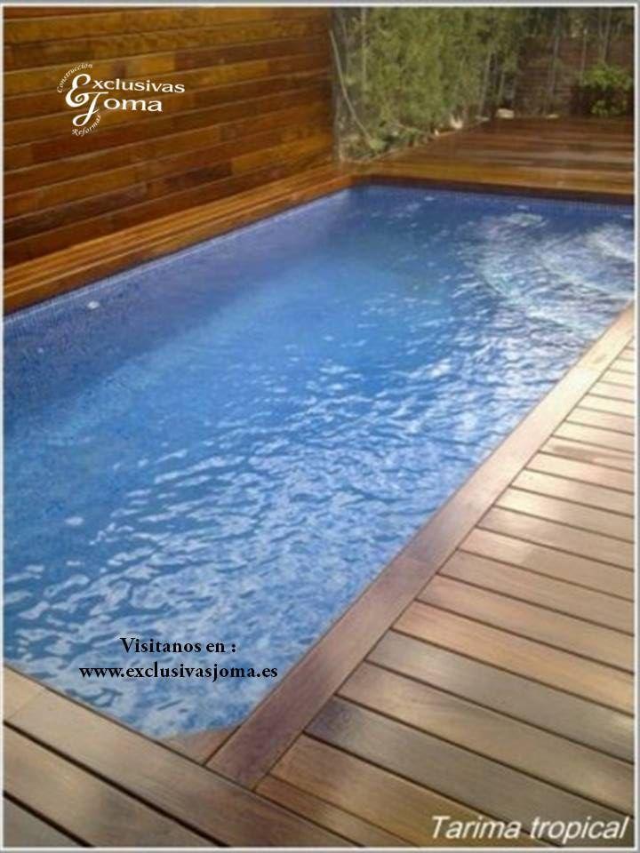 Realizaci n de reforma en chalet con exterior en madera - Jardines con piscinas ...