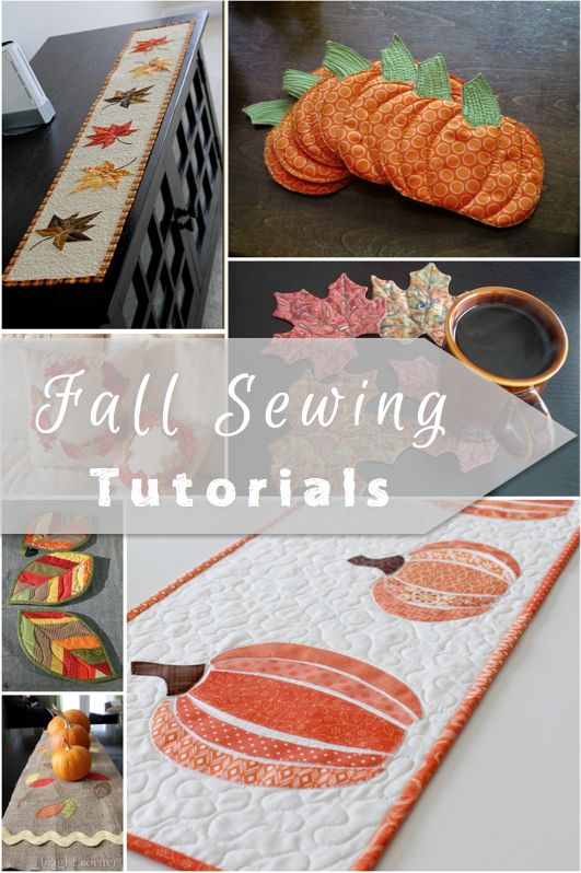 These are some of the cutest quilted and appliqued fall sewing tutorials! Have fun bringing the warmth of the season into your home accents!