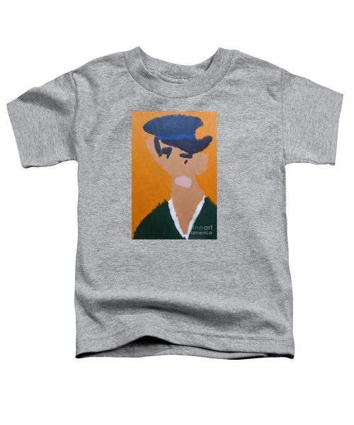 Toddler T-Shirt featuring the painting Young Man With A Hat 2014 - After Vincent Van Gogh by Patrick Francis