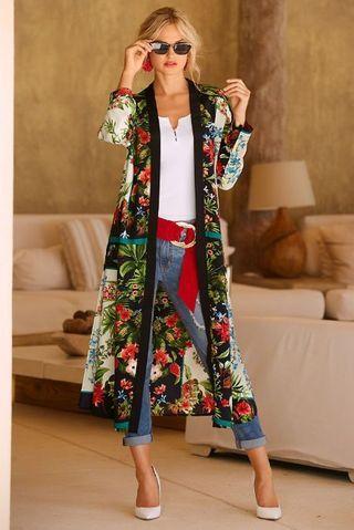 Manual de uso del kimono: 12 formas de llevarlo | Ropa de moda mujer, Ropa de moda, Blusones largos de moda