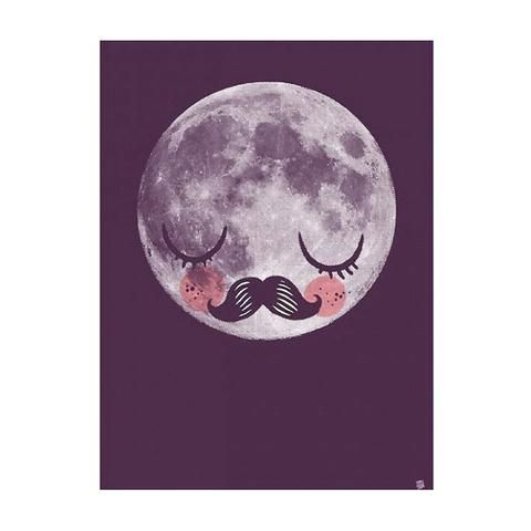 Print / Poster . Für Neil Moon Man / Purple - A3 - This Modern Life