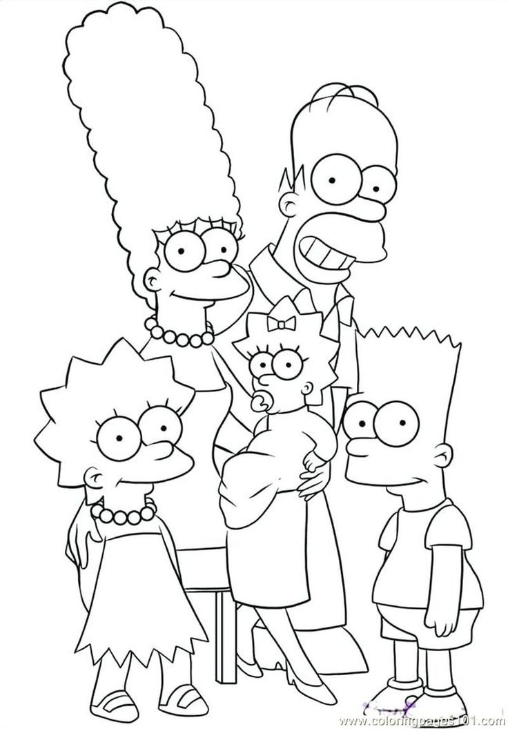 Printable Free Coloring Pages Of The Simpsons Family