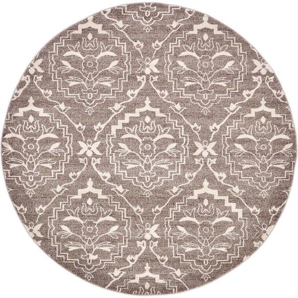 8' x 8' Damask Round Rug (5 305 UAH) ❤ liked on Polyvore featuring home, rugs, circular rugs, circular area rugs, round area rugs, damask rug and round rugs