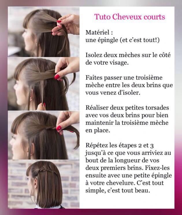 Tresse cheveux court