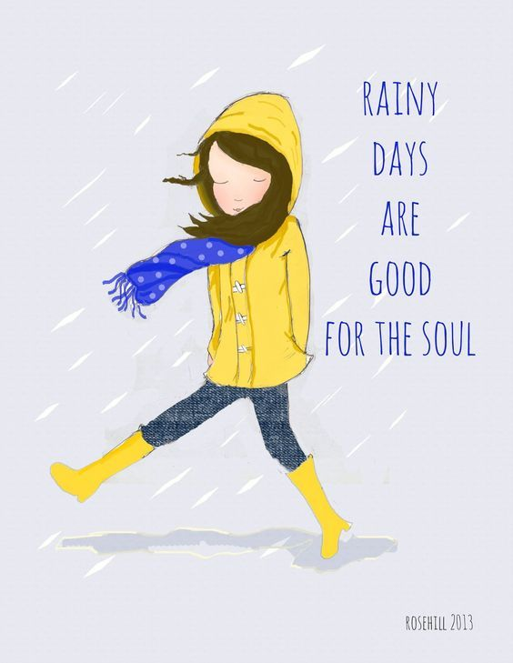 Rainy days are good for the soul. thedailyquotes.com