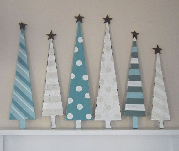 wooden Christmas trees: