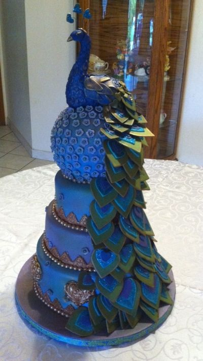 Peacock cake By Millie1957 on CakeCentral.com @Mary Powers Powers Powers Beth Wallace Tauer