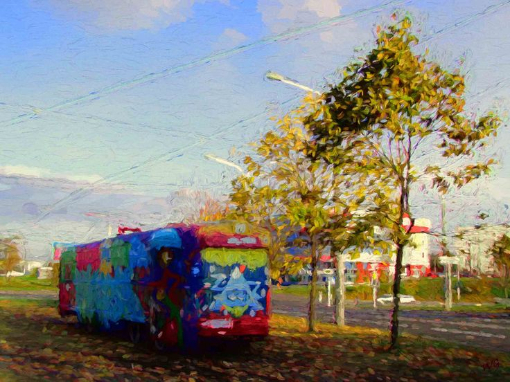 https://flic.kr/p/ZQPtC8   Tram on October   The City Of Minsk, Belarus. A favorite place of youth.