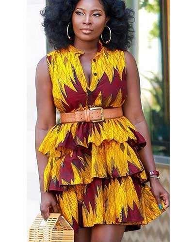 15 Robes Chemise En Pagnes Africains Et Hollandais Pour
