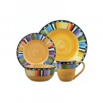 Enjoy vibrant colors with this bold Home Fandango The stoneware dinnerware set provides service for four with its four dinner plates four salad plates ...  sc 1 st  Pinterest & 12 best Fun Dinnerware images on Pinterest | Dish sets Dinnerware ...