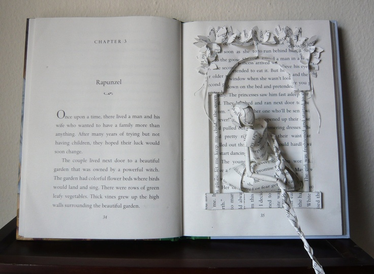 This is STUNNING!     Rapunzel Book Sculpture by SamHainPress on Etsy, $750.00