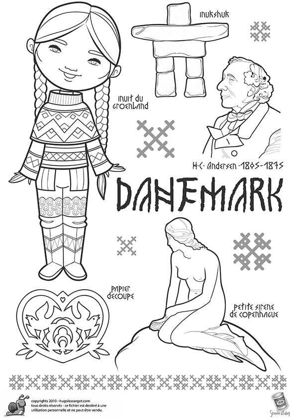 Coloriages danemark