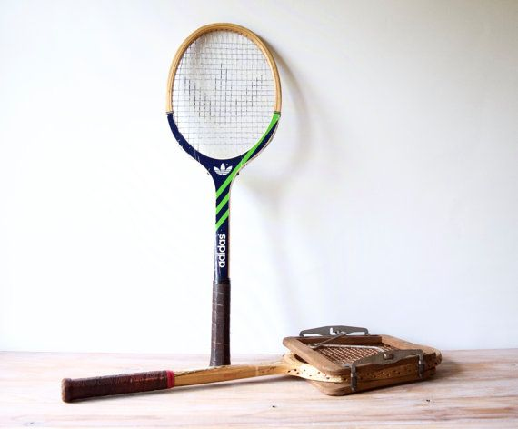 Vintage tennis racket  Wooden tennis racquet by LesIndecisesFrance