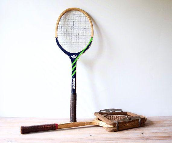 Vintage tennis racket  Wooden tennis racquet by LesIndecisesFrance