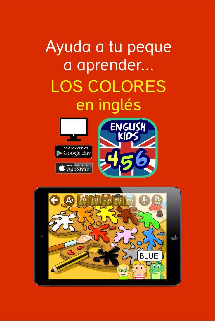 Aprender los colores en inglés con juegos interactivos ENGLISH 456 #english #languages #kids #learnenglish #colors #apps #educationalapp #resources #ESL #tablet #smartophone #ipad #app