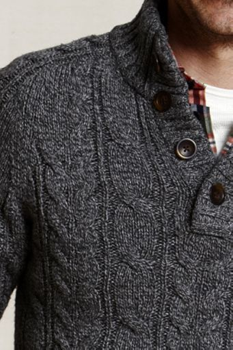 Sometimes it's best to let a good sweater carry a more casual outfit. I don't necessarily approve of the plain white crew neck seen behind the button down, but overall this outfit illustrates just how easily you can make an impression with just a great top layer like this.
