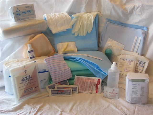 Home Birth Kit In Case This Baby Comes Faster Than Big