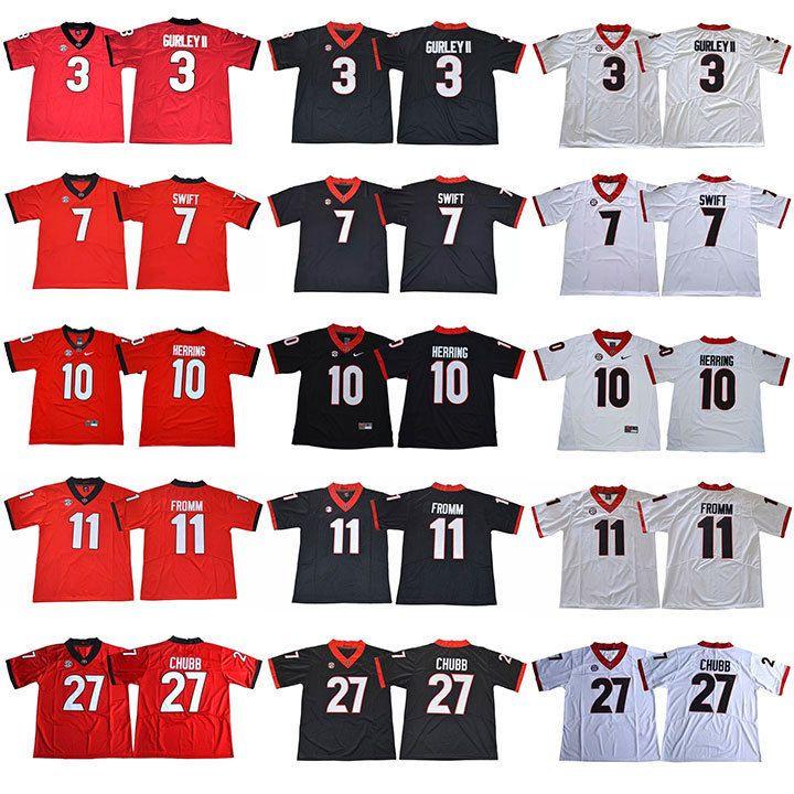 factory authentic cf70d b512d Georgia Bulldogs #27 CHUBB #11 FROMM #10 HERRING #7 SWIFT #3 ...