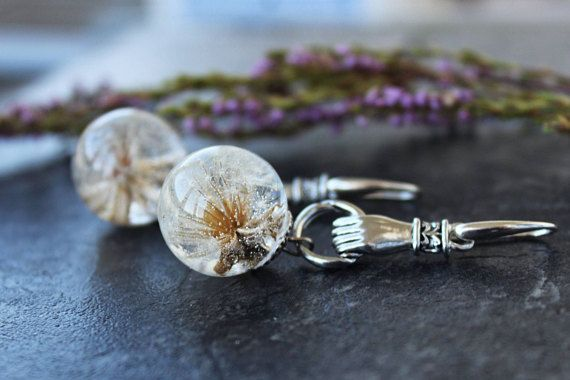 Hey, I found this really awesome Etsy listing at https://www.etsy.com/listing/569130093/sterling-dandelion-earrings-white