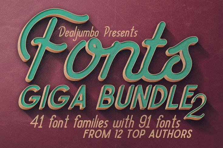 Fonts Giga Bundle 2 – 41 Font Families