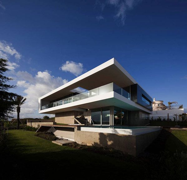 Modern house in Portugal.