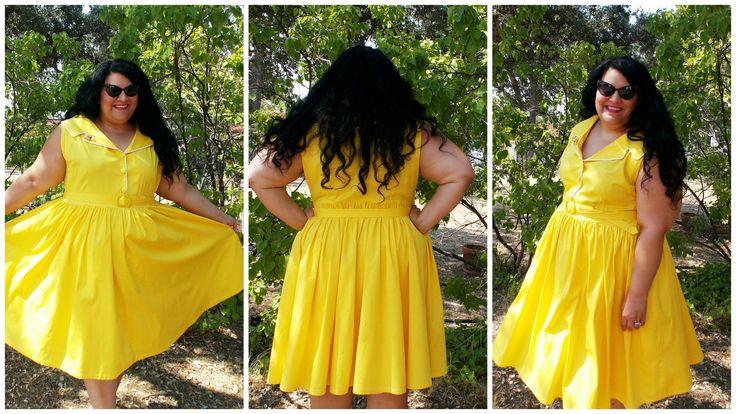 желтый 1950 бруклинский рубашку платье