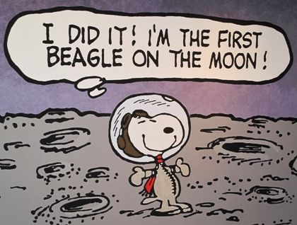 Snoopy on the moon.