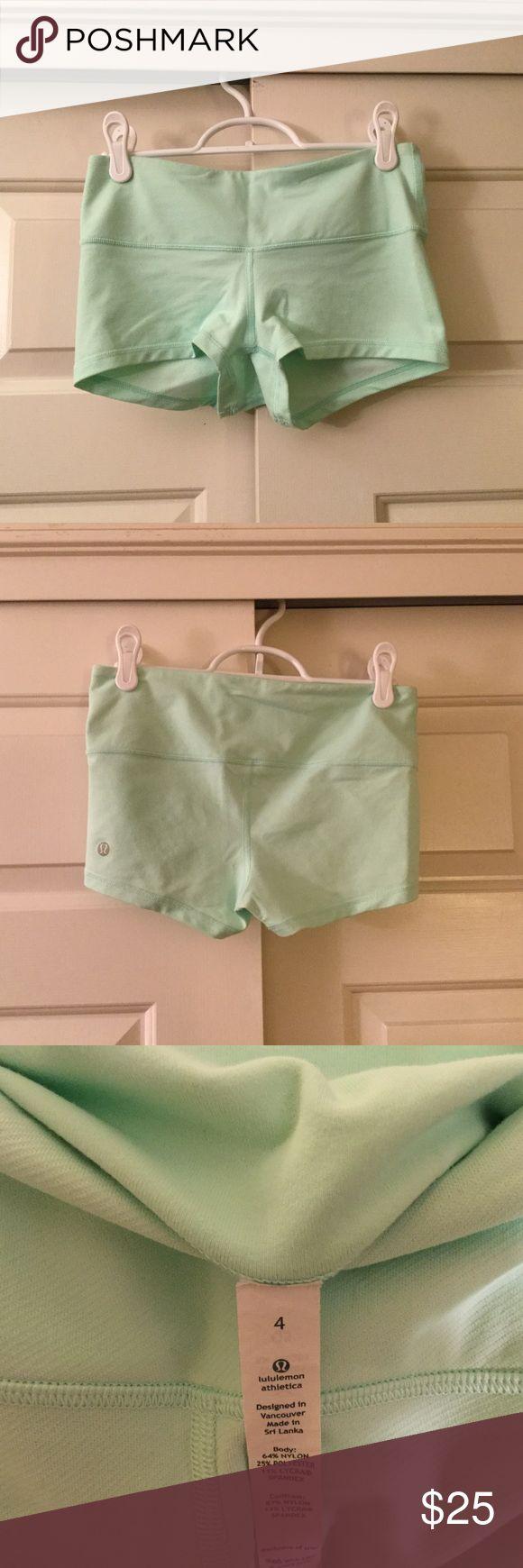 MINT LULULEMON SHORTS Mint shorts from lululemon. Size 4 and condition is very good! lululemon athletica Shorts