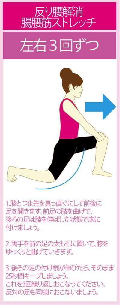 反り腰を改善する腸腰筋ストレッチ