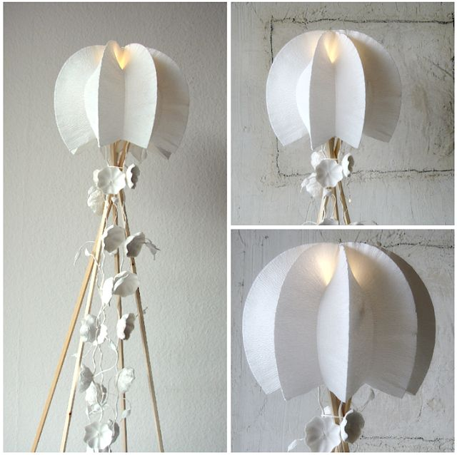 lampade di carta-paper lamp-shade- origami lamp-carta crespa-eco-made in Italy