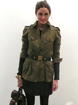 Dress – Cos, Jacket – Zara, Belt – Tibi, Purse – Mulberry Alexa (for Vogue UK's website)