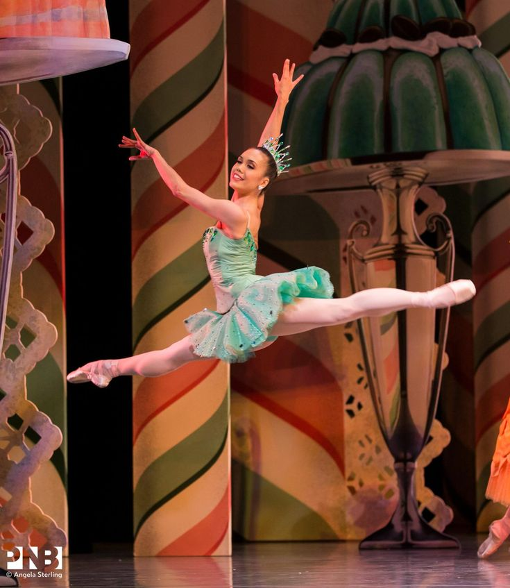 """Noelani Pantastico as """"Dewdrop"""", """"The Nutcracker"""" choreography by George Balanchine and music by Pyotr Ilyitch Tchaikovsky, Pacific Northwest Ballet - Photographer Angela Sterling"""