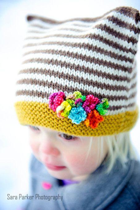 Girls Hat & Mittens Knitting Pattern | Heirloom Stitches Snow Buddies