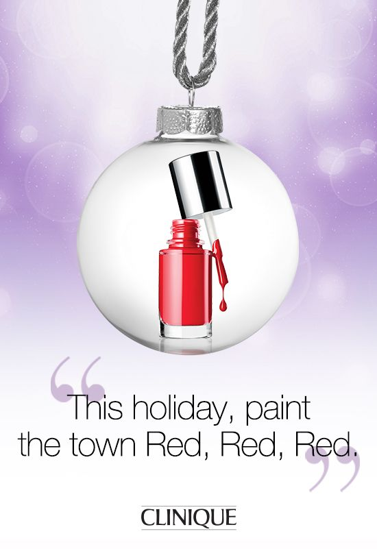 Paint the town red with #Clinique A Different Nail Enamel in Red Red Red. #Nail #NailPolish #Beauty #Makeup #Gifts