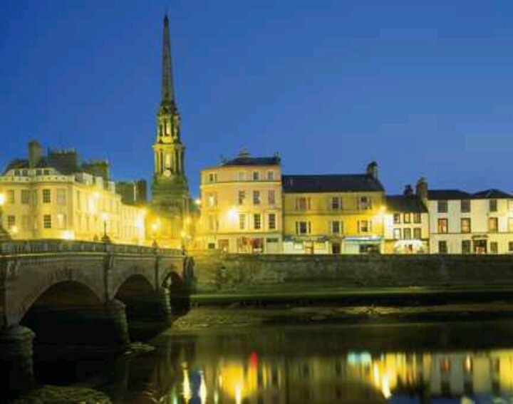 Auld Brig, Ayr, Scotland, lights of welcome.  I miss this place.