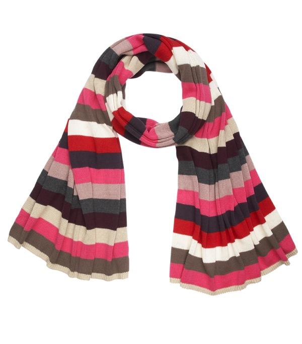 love the colors  Pink stripe scarf #GapLove